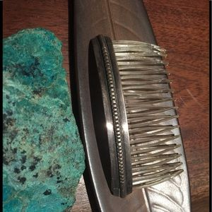 Vintage Sterling Native American Hair Comb